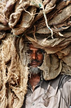 The Bangladesh Burlap Sack Man