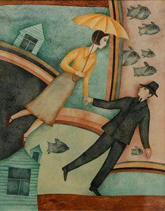 "Vera Pavlova. Illustrations. The complete collection of children's poems by Osip Mandelstam's ""Sleepy trams"""
