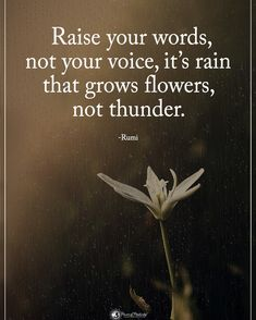 """7,459 Likes, 94 Comments - Positive + Motivational Quotes (@powerofpositivity) on Instagram: """"Type YES if you agree. Raise your words, not your voice, it's rain that grows flowers, not…"""""""