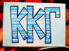 Tribal Letter Canvas by bkraftybybethany on Etsy