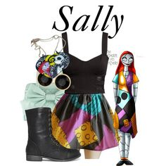 """""""Sally"""" by bryannnne on Polyvore- OMG!!!! I LOVE LOVE LOVE this dress much have one made or buy this!! #ideas to wear at disneyland :)"""