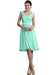 Bridesmaid Dresses - Remedios ALine Chiffon Bridesmaid Dresses Short Party Gown for Prom Homcoming >>> Check this awesome product by going to the link at the image.