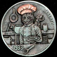 HOWARD THOMAS HOBO NICKEL - 1933 BUFFALO NICKEL