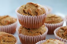 So easy to make, try a batch of these healthy muffins for a grab and go breakfast or snack. Almond Flour Muffins, Baking With Almond Flour, Cinnamon Muffins, Paleo Dessert, Gluten Free Desserts, Dessert Recipes, Healthy Desserts, Healthy Eats, Healthy Recipes