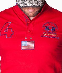 La Martina Number 4 USA World Rojo Polo  f7a3aa96b1dce