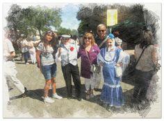 Con amigos españoles en la Fiesta de San Isidro.