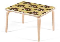 DabsMyla Fiberglass Demi Table - Cat Head