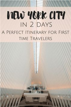How to See NYC in 2 Days:A jam packed itinerary perfect for first time visitors of NYC that will allow you to see most of the main tourist sights in NYC in two days!