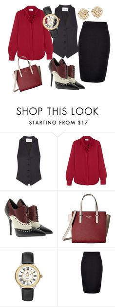 """Classics"" by loka2003 ❤ liked on Polyvore featuring PALLAS, DKNY, Gucci, Kate Spade, Michele, New Look and Blue Nile"