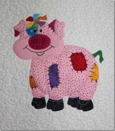 another one of those quilts Baby Applique, Applique Quilt Patterns, Applique Templates, Machine Applique, Quilting Projects, Quilting Designs, Sewing Projects, Patchwork Quilting, Quilt Baby