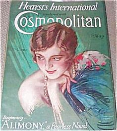 $74 Art Deco Flapper Lady Cosmo Cover of the COMPLETE ISSUE OF COSMOPOLITAN MAGAZINE FOR MAY 1928. COVER BY HARRISON FISHER.
