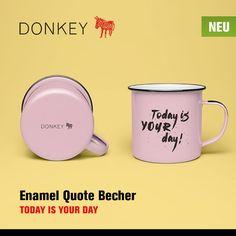"""Neben des #Enamel Quote Bechers """"TODAY IS YOUR DAY"""" haben wir für Sie noch viele weitere Neuheiten von #DonkeyProducts in unserem #OnlineShop bereit gestellt ..."""