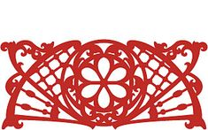 Scroll saw fretwork pattern.  Would look nice with a press-in clock in the middle using natural hardwood.
