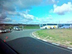 Registro de autobuses de la marcha en Salamanca.