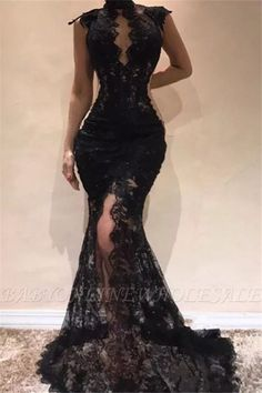 Prom Dresses Elegant, Charming Black High Neck Lace Mermaid 2020 Prom Dresses, Mermaid prom dresses, two piece prom gowns, sequin prom dresses & you name it - our 2020 prom collection has everything you need! Backless Prom Dresses, Black Evening Dresses, Mermaid Evening Dresses, Black Wedding Dresses, Cheap Prom Dresses, Elegant Dresses, Homecoming Dresses, Sexy Dresses, Bridesmaid Dresses