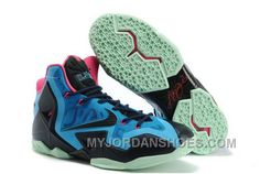 cc16007b951e 820-632215 Nike Lebron 11 2013 Blue Black Running Shoes WABAj