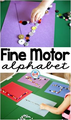 Fine Motor ABCs is a low prep, fun, hands-on learning activity. It helps children improve their fine motor skills while learning the letters of the alphabet. by annmarie Fine Motor Activities For Kids, Motor Skills Activities, Alphabet Activities, Literacy Activities, Preschool Activities, Alphabet Crafts, Teaching Resources, Alphabet Letters, Fine Motor Activity