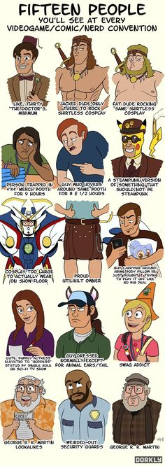 15 Types of People You Will See at Comic-Con - Infographic - News - GeekTyrant
