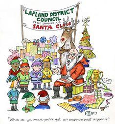 Funny Xmas Cards, Illustration, Santa, Comics, Artwork, Funny Christmas Ecards, Work Of Art, Auguste Rodin Artwork, Funny Christmas Cards