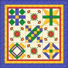 "THE BIBLE QUILT BASED ON ""FAR ABOVE RUBIES""  OLD TESTAMENT BIBLE BLOCKS - (click on individual blocks shown to find each pattern) horizontal block no sashing"