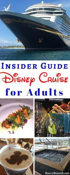Disney Cruise for Adults: 8 Pointers to Make it Fabulous! Disney Cruise Line is not just for kids and families. Adults can have fun at sea, too. With these 8 pointers about adults only restaurants, drink seminars, excursions, spa amenities, and grownups only locations on the ships, cruisegoers will be shipshape for their sailing on the Disney Magic, Wonder, Dream or Fantasy. #Disneycruise #DCL #cruise