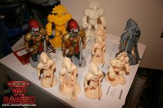 Test prints for ECHO-Ear The Ravaged table top board game., by Lloyd Chidgzey Top Board Games, 3d Printing, Lion Sculpture, Ear, Statue, Prints, Impression 3d, Printed, Art Print