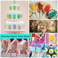 We Are Totally In Love With All Of These Seriously Lovely Popsicle Party Ideas. So Much Eye Candy From Decorations To Desserts! Popsicle Party, Party Themes, Party Ideas, Ice Cream Social, Popsicles, Baby Birthday, Birthday Ideas, Eye Candy, Events