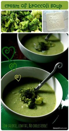 Cream of Broccoli Soup with Quinoa - Cooking Quinoa