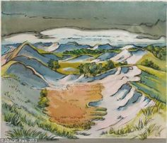 PECHSTEIN Hermann Max, 1881-1955 (Germany) Title : Dünen an der Ostsee (Leba) Date : 1938 (Dunes on the Baltic Sea)