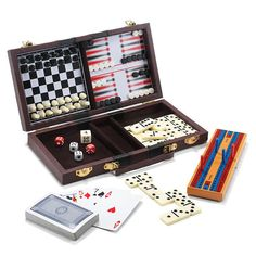 """AVON LIVING CATALOG ---6-In-1 Travel Game Set $19.99 Wood/plastic/leather, imported, 10"""" l x 5.5"""" w x 1.5"""" h, includes: chess, backgammon, cribbage, dominoes, checkers and playing cards. Ages 8 and up  www.yourAvon.com/rplattharendza"""