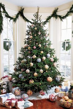 Boxwood Swags - CountryLiving.com. Simple Christmas Decorating, Natural Christmas Trees.