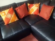 Set of 2 patchwork style 18 inches square cushion by TamiahDesigns, $55.20