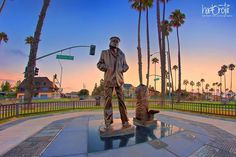 The Lone Sailor remains vigilant at Bluff Park and as the November photo for the Long Beach Gas and Oil Calendar. Photograph by Hartono Tai.