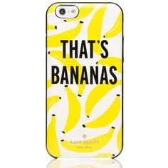 Kate Spade That's Bananas Iphone 6 Case (735 MXN) ❤ liked on Polyvore featuring accessories, tech accessories, phone cases, phones, case, electronics and kate spade