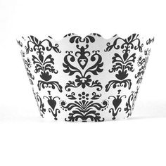 Lu Lu Damask White and Black Cupcake Wrappers - pack of 24 *** Discover this special product, click the image : Baking tools