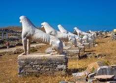 Delos island is located nearby Mykonos