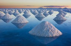 These crazy alienesque formations are actually part of the world's largest salt flat, which is located in southwest Bolivia.