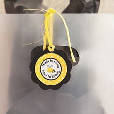 Bumble Bee Favor Tags Birthday Party - Black & Yellow