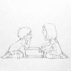 Remember that passing feelings through a drawing it's very pleasant, and putting it in a situation makes it even better ♡ Cartoon Kunst, Anime Kunst, Anime Art, Art Drawings Sketches, Cartoon Drawings, Cute Drawings, Pretty Art, Cute Art, Art And Illustration
