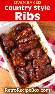 Beef Ribs In Oven, Oven Baked Pork Ribs, Ribs Recipe Oven, Pork Loin Ribs, Boneless Pork Ribs, Baking Ribs In Oven, Pork Rib Marinade, Cooking Pork Ribs, Barbecue Pork Ribs