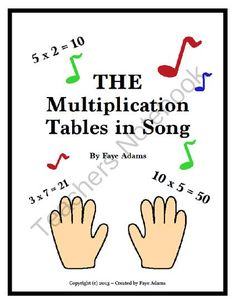 The Multiplication Tables in Song Teach your students their times tables the fast, fun, and effective way! Teaching Multiplication Facts, Math Facts, Teaching Math, Multiplication Strategies, Math Strategies, Math Fractions, Math For Kids, Fun Math, Math Activities
