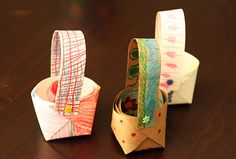 Teddy Bear Picnic Baskets | Make and Takes - hum, could I do these with stiffened fabric and buttons?