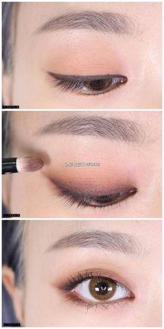 Excellent Pics Makeup style korean Popular, Best Makeup Tutorials And Beauty Tip. - Excellent Pics Makeup style korean Popular, Best Makeup Tutorials And Beauty Tips From The Web. Make Up Tutorial Eyeshadows, Smokey Eye Makeup Tutorial, Make Up Tutorial Eyebrows, Easy Eye Makeup, Easy Makeup Looks, Eyeshadow Tutorials, Easy Makeup Tutorial, Monolid Makeup, Makeup Eyebrows