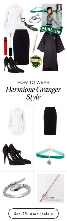"""""""If Hermione Granger Was A Slytherin"""" by queenminz on Polyvore featuring Blu Bijoux, Alaïa, Roland Mouret, Miu Miu and Givenchy"""