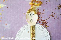 Wooden Spoon Christmas Angel - Kid Craft