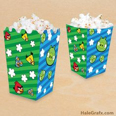 Click here to download FREE Printable Angry Birds Popcorn Boxes!