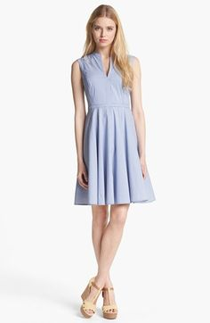 Tory Burch Talley Cotton Blend Fit & Flare Dress | Nordstrom $325