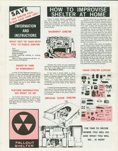 How to build a fallout shelter? What materials are used for building a fallout shelter from inside? Types of fallout shelters explained.