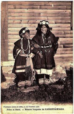 Historic Iroquois and Wabanaki Beadwork: Historic Images of Kahnawake Native Child, Native American Children, Native American Photos, Native American Beadwork, Native American Tribes, Native American History, Trail Of Tears, Iroquois, First Nations