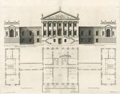 Vitruvius Britannicus Architectural Prints from 1715 by Colen Campbell Esq